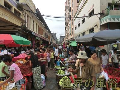 チャイナタウンの市場