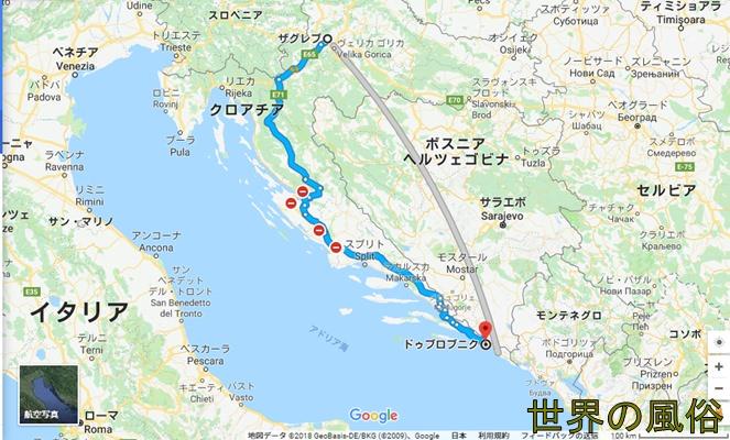 クロアチアの首都ザグレブ、観光名所ドゥブロブニクの風俗・夜遊びは厳しかった